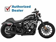 Vance And Hines Black 2 Into 1 2-1 Upsweep Exhaust Pipes Harley Sportster Xl 07-20