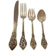 Florentine Lace By Reed And Barton Sterling Silver Flatware Set Service 24 Pcs