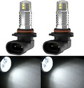 Led 20w H10 9145 White 6000k Two Bulbs Fog Light Replacement Upgrade Halogen Fit