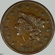 1837 1c Coronet Head Cent Almost Uncirulated Nice A Must For Everyone
