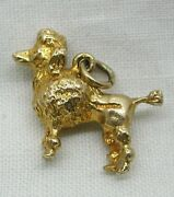 Lovely Quality Heavy 9ct Gold French Poodle Dog Charm