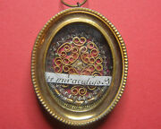 Very Rare Reliquary Shrine Relic Ss.milk Of Miracle Blessed Virgin Mary