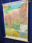 Denoyer-geppert Series 1967 Visual-relief Series Map Of Ohio Free Shipping
