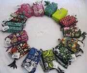 Vera Bradley All In One Crossbody Wallet Coin Clutch Cards Phone Wristlet Nwt
