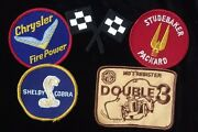 Vintage Car Racing Patches Set Of 5