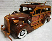 1949 Hand Carved Bentley Woody Car