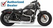 Chrome Bassani Mega Power 2 Into 1 Road Rage Ii Exhaust Pipe System Sportster Xl