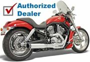 Bassani Chrome Road Rage B1 Ii Power 2 Into 1 Exhaust Pipe System Harley V-rod