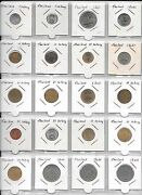 120 World Coins In Holders 6 Album Pages Asia-europe-south America-africa Etc.