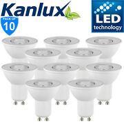 Pack Commerce X10 Kanlux Non Dimmable Tomi Led 6w Gu10 Blanc Froid Ampoule 6500k