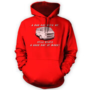 Bad Day With My T3 Beats Work Hoodie -x12 Colours- Gift Present Bus Brick