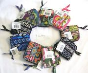 Vera Bradley Compact Mini Zip Around Wallet Coin For Purse Tote Backpack Bag Nwt