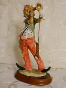 Duncan Royale Capodimonte Italy Clown Playing Horn-finalstopshop