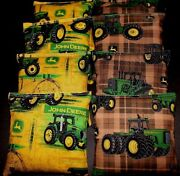 Green Tractor Country With John Deere Fabric Aca Regulation Corn Hole Game Bags