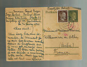 1944 Germany Konigsberg Stutthof Sub Concentration Camp Kz Pc Cover To France