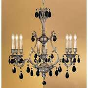 Classic Lighting Majestic Crystal Chandelier Aged Bronze - 57364agbcbk