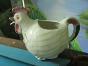 Shawnee Patented Usa Chanticler Rooster 1940's Figural Pitcher Original