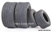 Set Of 4 New Lawn Mower Turf Tires 15x6-6 Front And 18x9.5-8 Rear /4pr -13016/32