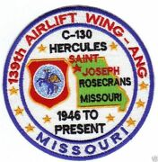 Air National Guard Patch, 139th Airlift Wing, St.joeseph Missouri, C-130,   Y