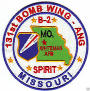 Us Air National Guard Patch, 131st Bomb Wing Missouri Ang, B-2 Spirit     Y