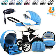 Baby Pram Stroller Pushchair Car Seat Carrycot Travel System Buggy Isofix Base