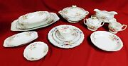 H And C Heinrich Selb Germany Bavaria Pattern 16257 85 Piece Porcelain China Set