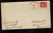 1925 Uss Los Angeles New York City Usa To Bermuda Zeppelin Airship Cover