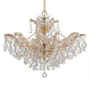 Crystorama Maria Theresa Chandelier Clear Crystal Spectra 4439-gd-cl-saq