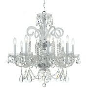 Crystorama Traditional Crystal Spectra Crystal Chandelier - 5008-ch-cl-saq
