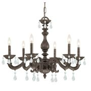 Crystorama Sutton 6 Light Crystal Spectra Crystal Chandelier - 5036-vb-cl-s