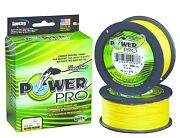 Power Pro Spectra Braid 300 Yd. Hi-vis Yellow New Choice Of Line Strength