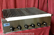 New 36 Radiant Char Broiler Grill Gas Stratus Srb-36 1186 Commercial Restaurant