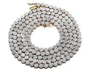 Menand039s 10k Yellow Gold Genuine Diamond Round Cluster Chain Necklace 7.5 Ct 24