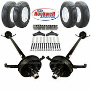 Tandem 5200 Lb Electric Brake Trailer Axle Kit Includes Trailer Tires And Wheels