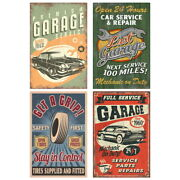 Car Repair Services 60s Style Garage Wall Decal Set 10 X 16