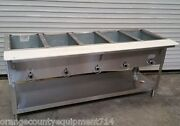 New 5 Well Gas Steam Table Duke Aerohot Wb305 Water Bath Nsf 4404 Commercial