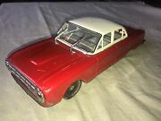 Antique Car Vintage Tin Toy Friction Ford Falcon Japan Yonezawa And Working Wipers