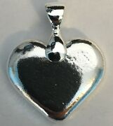 1oz Hand Poured 999 Silver Bullion Bar Heart With Bail By Yps
