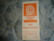 1968 Clemson Tigers Baseball Media Guide Yearbook Press Book College Brochure Ad