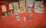 9 Lot Of Vintage Precious Moments Figurines