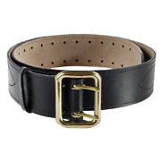 Russian Army Original Leather Beltstitched Thread Metal Buckle Soldier Belt