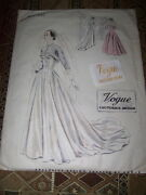 🌹1950 Vogue Couturier Design 545 - Bridal Or Ball Room Gown Pattern W/label 14