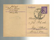 1943 Suhl Germany Buchenwald Concentration Sub Camp Postcard Cover To Prague Kz
