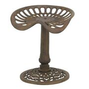 Cast Iron Short Stool Tractor Seat Chair Old Style Country Chic 22inches Tall