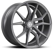 22x9 Xo Verona X253 5x120 +20 Gunmetal Wheels Set Of 4