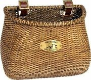 Nantucket Bike Lightship Front Bicycle Basket Classic Shape Stained