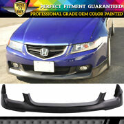 Fits 04-05 Acura Tsx Oe Style Front Bumper Lip Spoiler Pu - Painted Oem Color