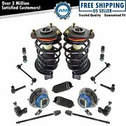 Strut Spring Assemblies Ball Joints Sway Links Tie Rods Rack Boots 16 Piece Set