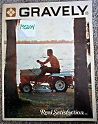 Gravely Sales Catalog Tractors And Attachments Vintage 1968
