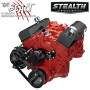 Black Small Block Chevy Serpentine Conversion Kit - Alternator Only Electric Wp